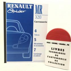 MANUEL DE REPARATION CARROSSERIE SPIDER RENAULT