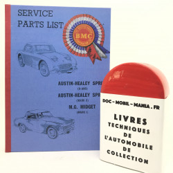 CATALOGUE DES PIECES AUSTIN HEALEY SPRITE