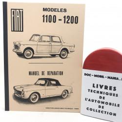 MANUEL DE REPARATION FIAT 1100 & 1200 cabriolet