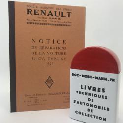 MANUEL D ATELIER RENAULT KZ 1928