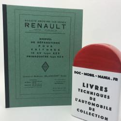 MANUEL D ATELIER RENAULT KZ 5 et KZ 6 1931