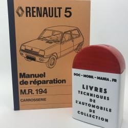 MANUEL DE REPARATION CARROSSERIE RENAULT 5