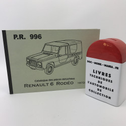 CATALOGUE DES PIECES DETACHEES RENAULT RODEO 6