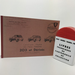 CATALOGUE DE PIECES DETACHEES PEUGEOT 203
