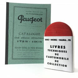 CATALOGUE DE PIECES DETACHEES PEUGEOT 172 S, 190 S