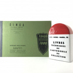 CATALOGUE DE PIECES DETACHEES SIMCA 1000 COUPE