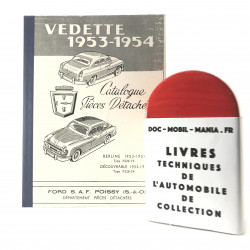CATALOGUE DES PIECES DETACHEES FORD VEDETTE
