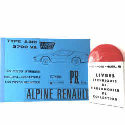 CATALOGUE DE PIECES DETACHEES ALPINE A 310 V6