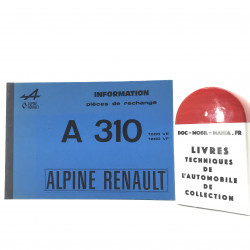 CATALOGUE DES PIECES ALPINE A310 1600 VE, VF et VG