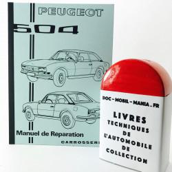 MANUEL DE REPARATION CARROSSERIE PEUGEOT 504 COUPE