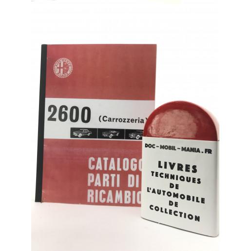 CATALOGUE DES PIECES DETACHEES ALFA ROMEO 2600