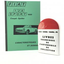 CARACTERISTIQUES ET DONNEES FIAT 124 SPORT 1600