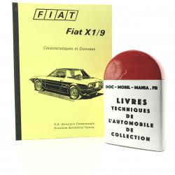 CARACTERISTIQUES ET DONNEES FIAT X 1/9 1300