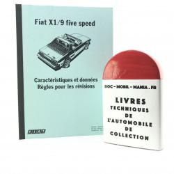 CARACTERISTIQUES ET DONNEES FIAT X 1/9 1500