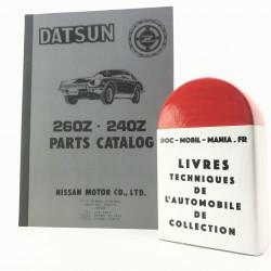 CATALOGUE DE PIECES DETACHEES DATSUN 240Z, 260Z