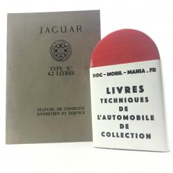 MANUEL DE CONDUITE JAGUAR TYPE E 4.2 L