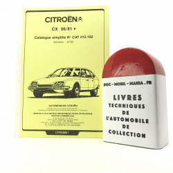 CATALOGUE SIMPLIFIE CITROEN CX