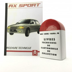 BROCHURE TECHNIQUE CITROEN AX SPORT